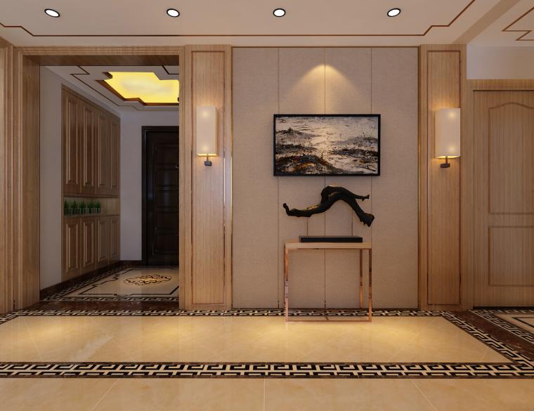 金汇瀚玉城143平新中式风格装修,被暗恋雅致!