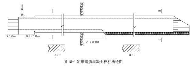 钢筋混凝土板桩构造设计