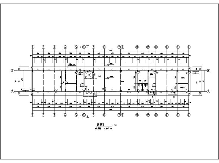 5套现代多层宾馆酒店建筑设计施工图CAD-多层宾馆酒店建筑设计平面图
