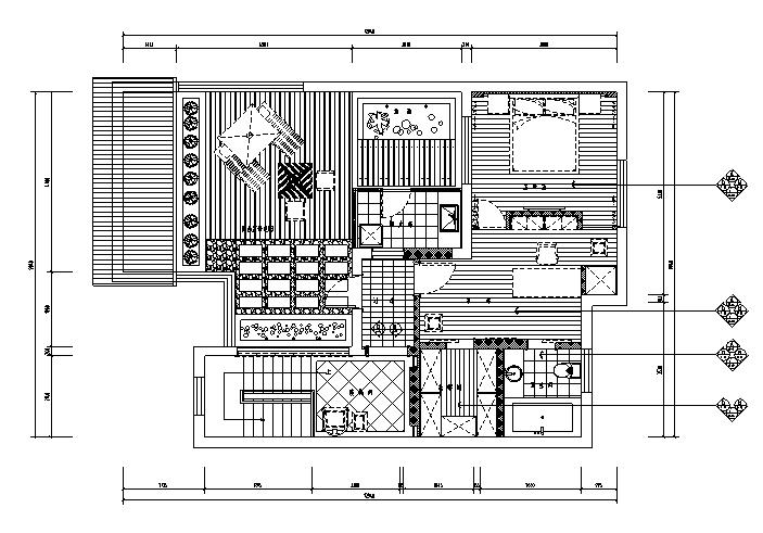 【江苏】中式风格别墅设计施工图(效果图+pdf图纸)_1