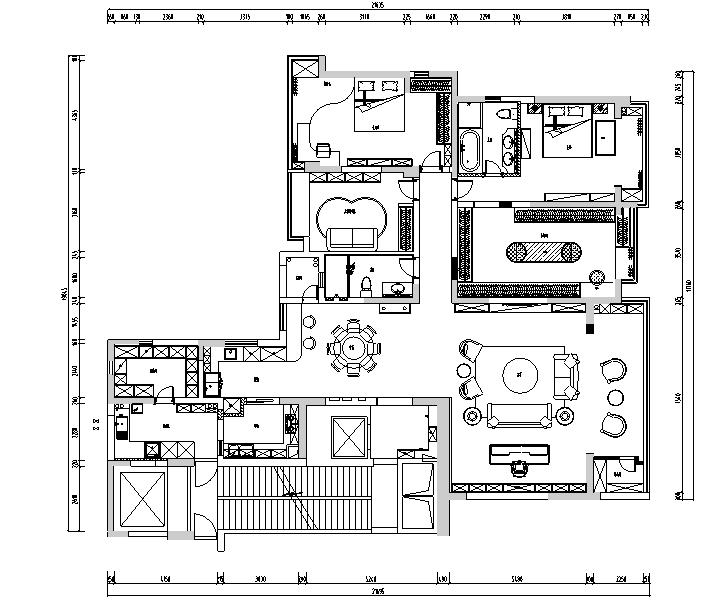 海归派轻奢家居样板房设计施工图(附效果图)_2