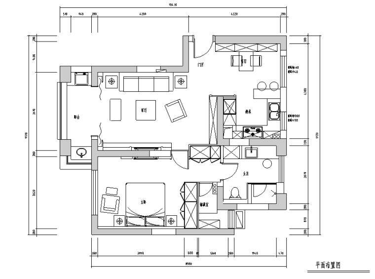 [江苏]现代奢华常熟四季花园公寓房设计施工图(附效果图)