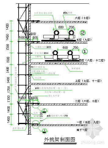 北京某住宅工程悬挑脚手架施工方案
