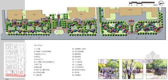 [西安]某道路绿化带及商业街景观方案设计