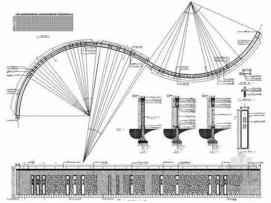 S型景墙节点做法详图