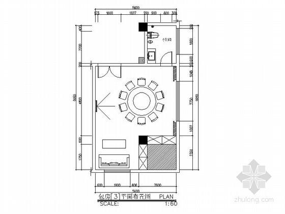 会所包房室内立面图