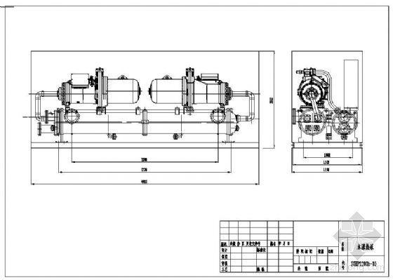 中央空调主机结构图--水源热泵