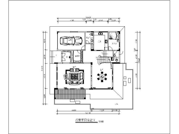 [广州]时尚酷炫3层别墅室内设计施工图(含实景图)