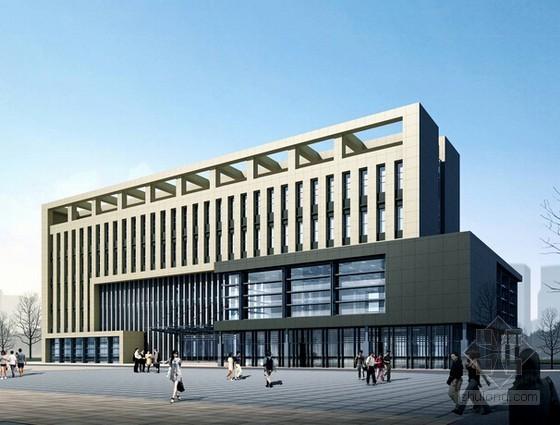 [南京]办公楼土建工程量计算及清单报价实例(带CAD图纸)
