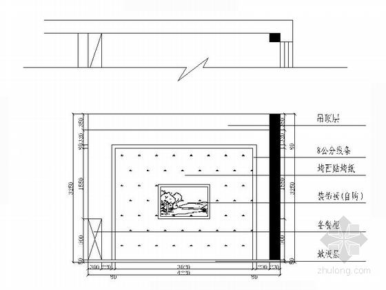 [江西]特色老字号高档饭店装修施工图(含效果)包厢立面图
