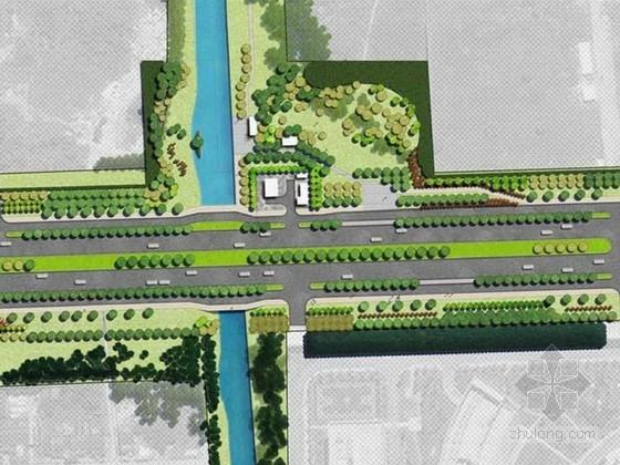 [江蘇]生態廊道線性公園景觀綠化方案