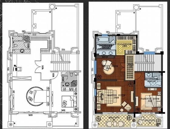[包头]知名设计公司设计样板房概念设计方案(含软装方案)