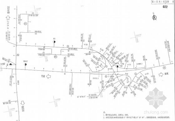 [湖北]B型单喇叭互通及接线道路工程图纸全套853张(含收费广场 交安机电绿化)