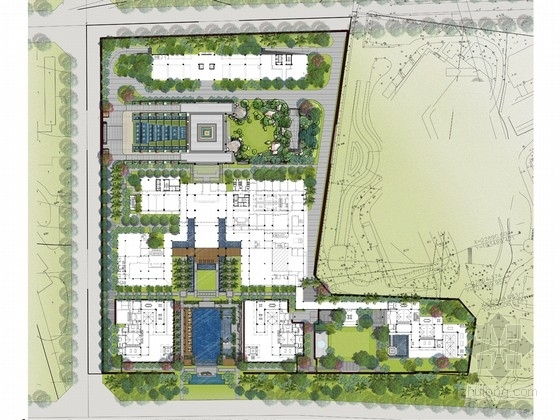 [海南]新中式酒店外环境景观设计方案(知名设计机构)