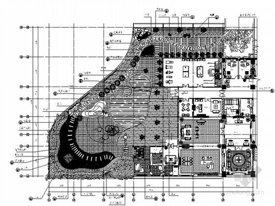 [重庆]交易中心屋顶花园设计施工图