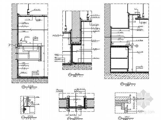 [南京]综合性通信软件研发中心现代办公室装修施工图(含水电图)大样图