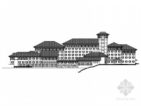[江西]新中式五星级度假酒店建筑施工图