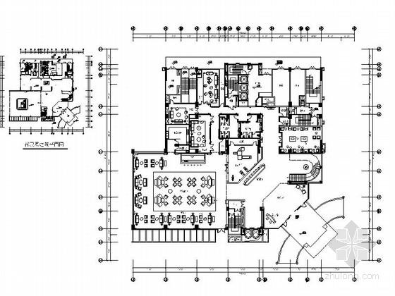 欧式奢华典雅娱乐会所室内施工图(含高清效果图)