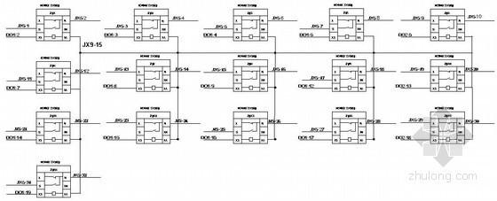 某热电PLC控制盘接线图图纸