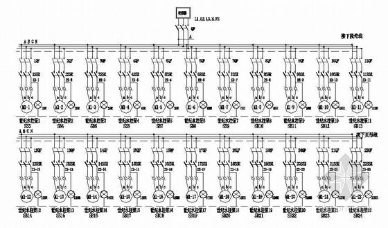 某公司音乐喷泉电气控制图