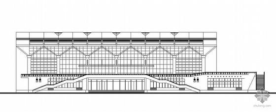 某玻璃幕悬挑结构大学生体育馆建筑设计方案