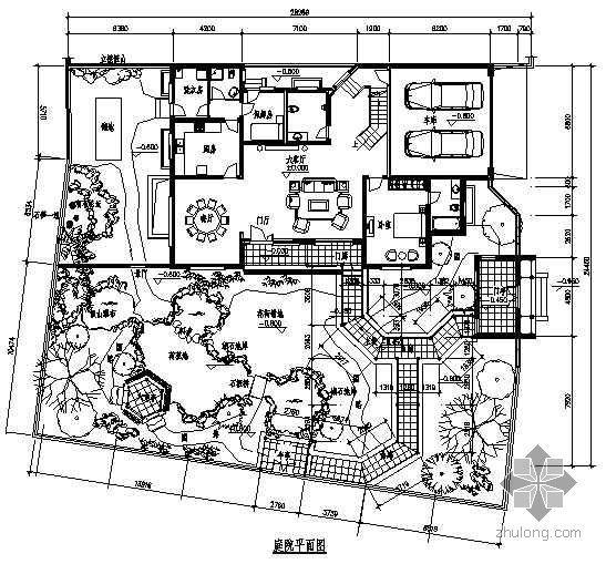 江苏扬州某庭院园林设计施工图
