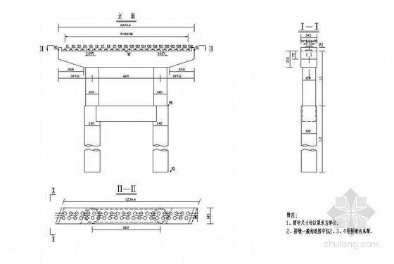 7x20m预应力混凝土空心板桥墩一般构造节点详图设计