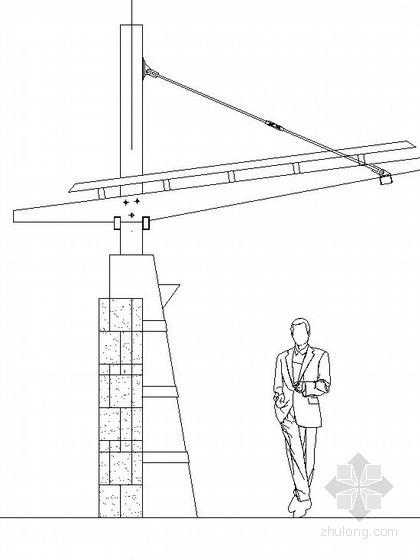 带观景平台弧型单臂花架施工做法