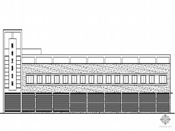 [温州]某三层粮食市场交易市场建筑施工套图