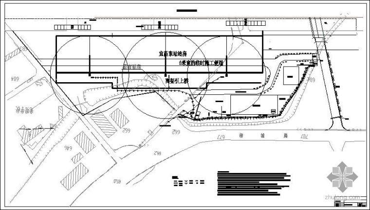 湖北某车站站房项目生活区平面布置图
