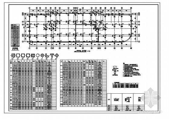 单层门钢(带天窗)厂房结构施工图