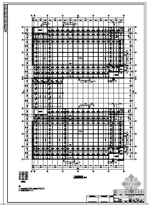 杭州某现浇混凝土框架厂房结构图