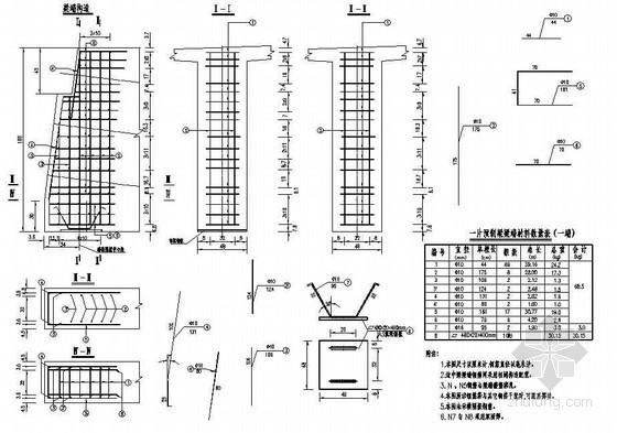 30米T梁上部结构构造全套cad设计图纸
