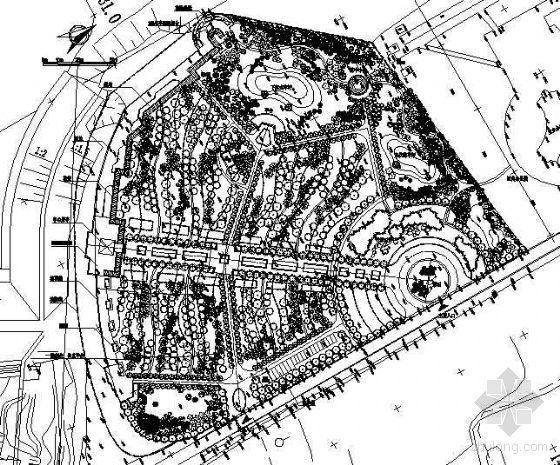 栖霞公园绿地设计平面图