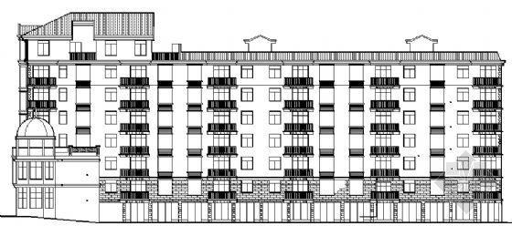 江南某六层商住楼建筑施工图