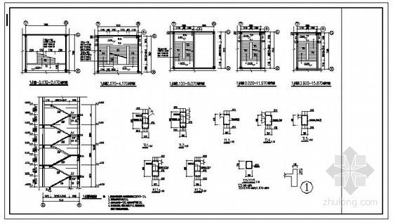 某综合楼混凝土楼梯节点构造详图
