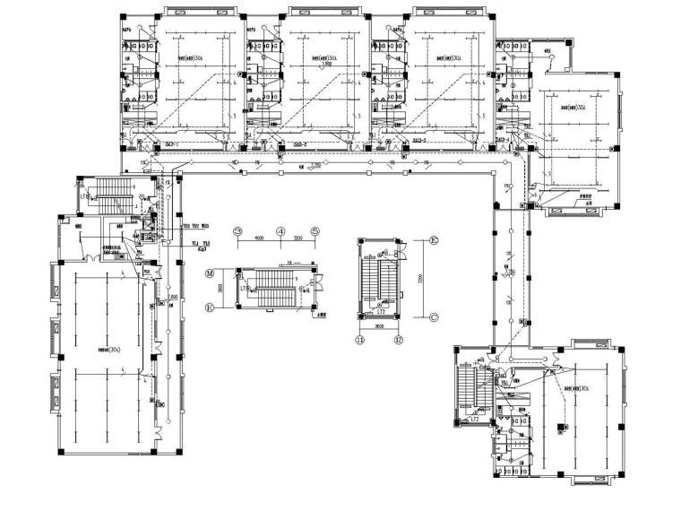 [福建]幼儿园多层建筑全套电气设计施工图(节能设计2015年)