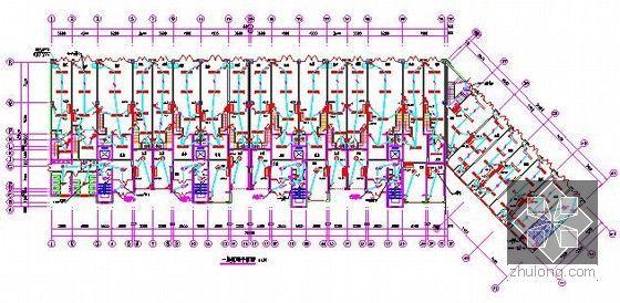 [新疆]2015年住宅区消防工程预算书(附图纸广联达软件应用)-一层照明平面图
