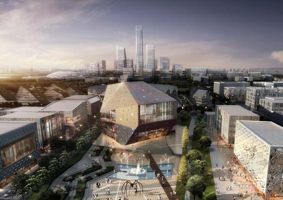 现代风格生态科技城规划设计方案效果图