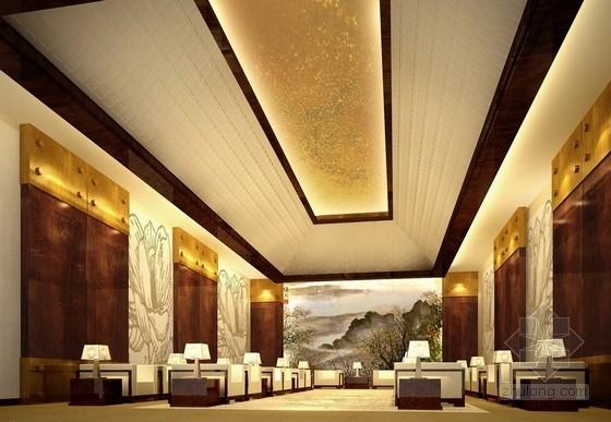 [广东]商业中心现代风格商务酒店2号楼室内设计方案接见厅效果图