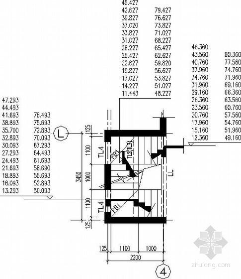高层梁式楼梯节点构造详图