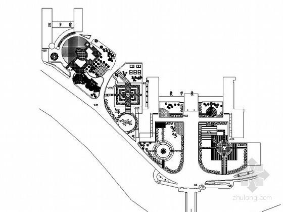 校园教学楼附属绿地景观工程施工图
