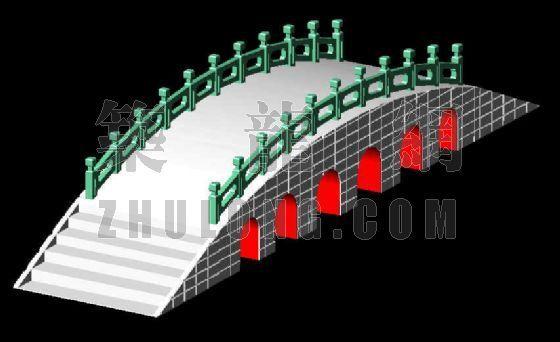 三维拱形桥设计效果图