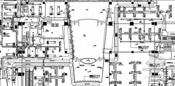 环球广场商业大厦采暖通风及防排烟设计施工图(含地下室)