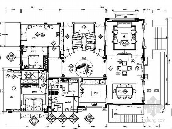 园林布置别墅cad资料下载-[广州]某欧式奢华别墅室内设计方案(含cad)
