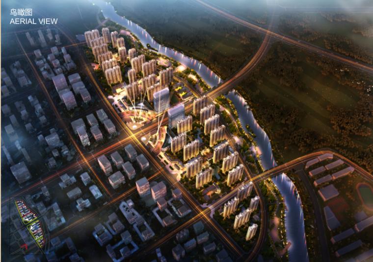 [河南]公园里高层塔式住宅办公建筑设计方案文本