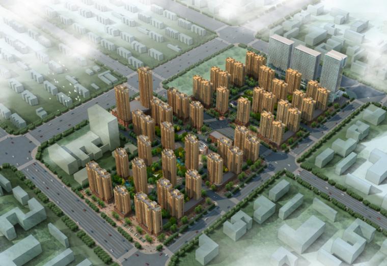 [安徽]淝河镇现代化居住区复建项目设计方案(含文本、全专业施工图)