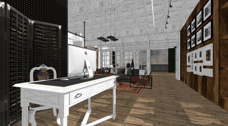 现代风格Loft摄影工作室空间设计模型