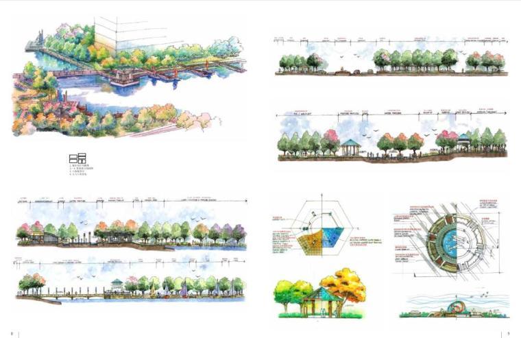 手绘景观方案与细部设计(中文版+PDF+161页)-天津海逸长洲三期1
