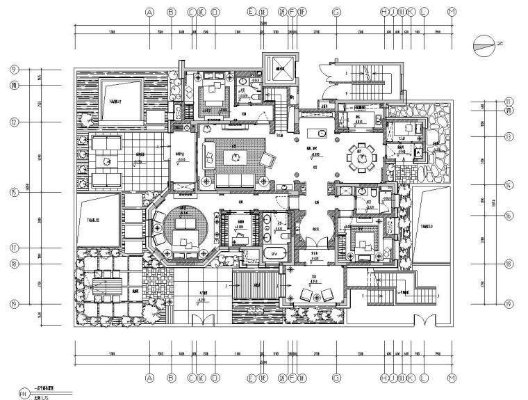 [安徽]合肥华地紫园101户型样板房室内手工图设计(保护CAD+实景图)